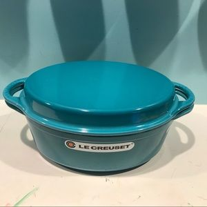 Le Creuset 4 1/2 qt Oval Oven with Grill Pan Lid